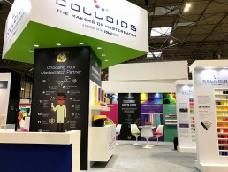 Colloids exhibition stand by SHAPES