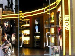 Moet retail shop design by SHAPES