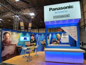 Panasonic Toughbook exhibition stand at the Emergency Services Show by SHAPES