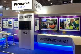 Panasonic Toughbook exhibition stand at BAPCO by SHAPES